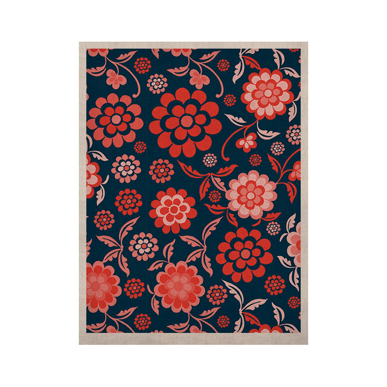 "Nicole Ketchum ""Cherry Floral Midnight"" KESS Naturals Canvas (Frame not Included) - KESS InHouse  - 1"