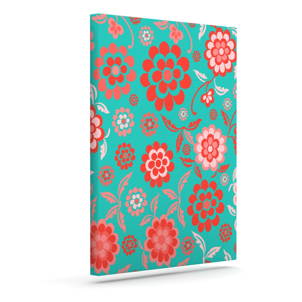 "Nicole Ketchum ""Cherry Floral Sea"" Outdoor Canvas Wall Art - KESS InHouse  - 1"