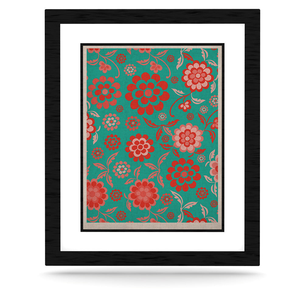 "Nicole Ketchum ""Cherry Floral Sea"" KESS Naturals Canvas (Frame not Included) - KESS InHouse  - 1"
