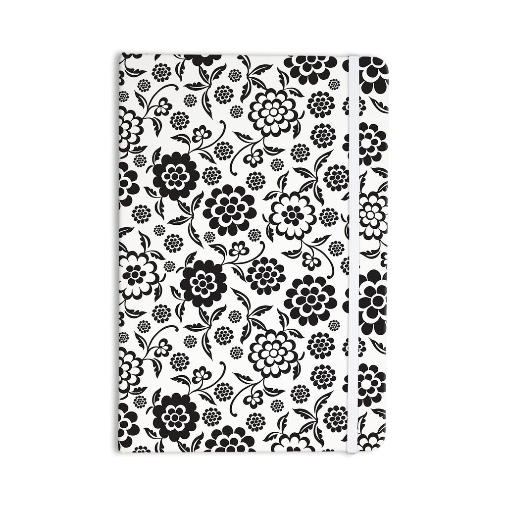 "Nicole Ketchum ""Cherry Floral White"" Everything Notebook - KESS InHouse  - 1"