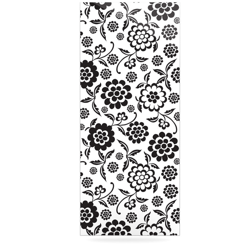 "Nicole Ketchum ""Cherry Floral White"" Luxe Rectangle Panel - KESS InHouse  - 1"