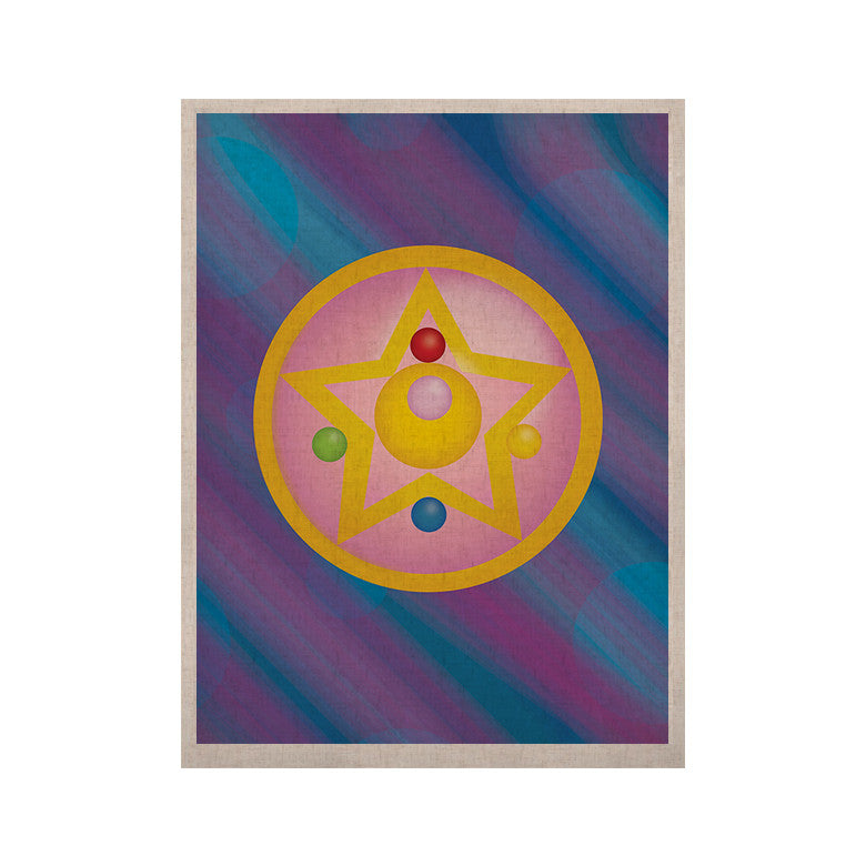 "NL Designs ""Moon"" Purple Blue KESS Naturals Canvas (Frame not Included) - KESS InHouse  - 1"
