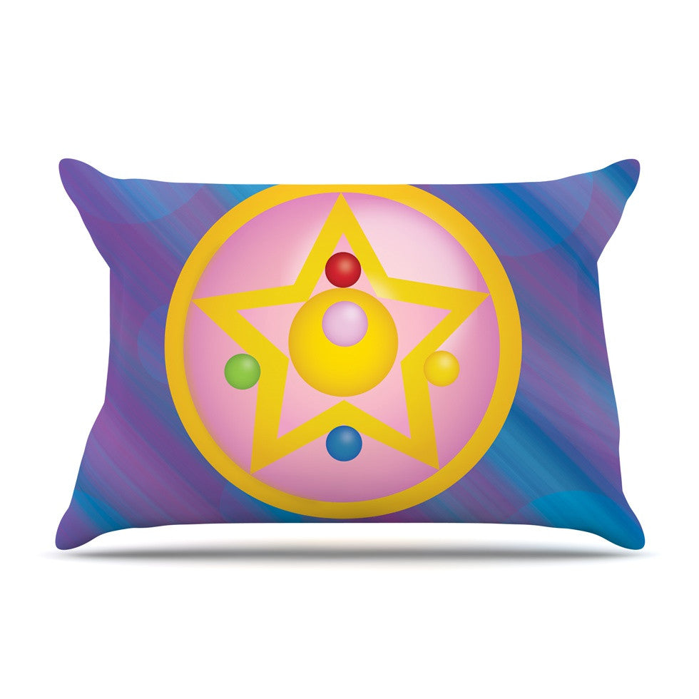 "NL Designs ""Moon"" Purple Blue Pillow Sham - KESS InHouse"