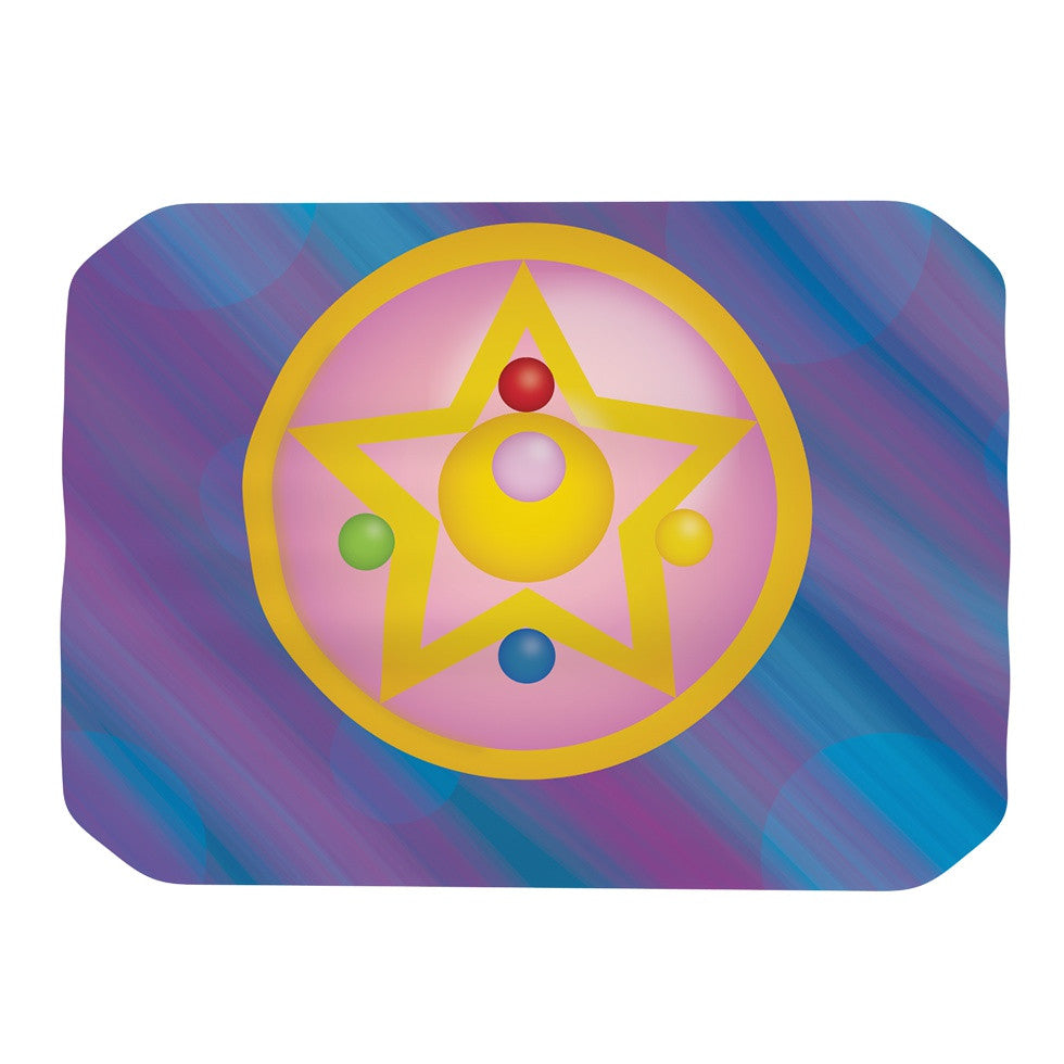 "NL Designs ""Moon"" Purple Blue Place Mat - KESS InHouse"