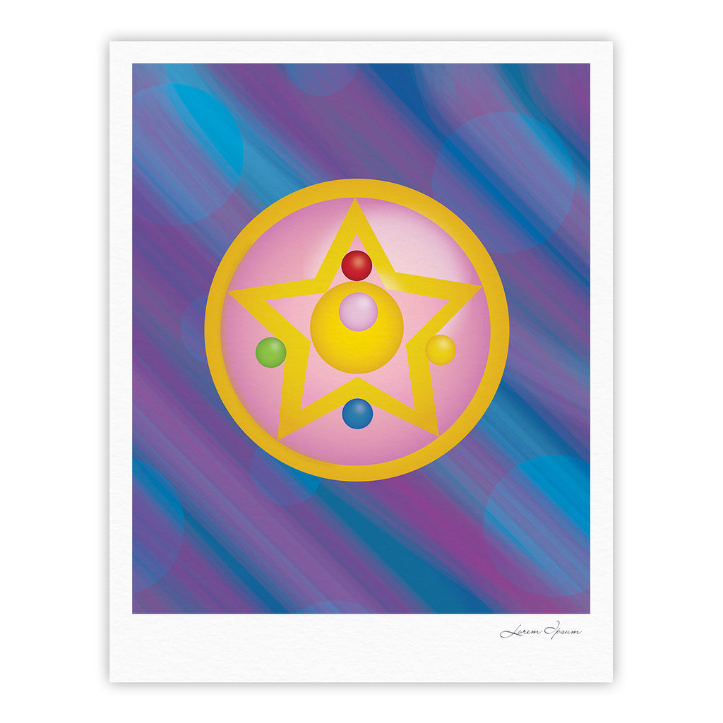 "NL Designs ""Moon"" Purple Blue Fine Art Gallery Print - KESS InHouse"
