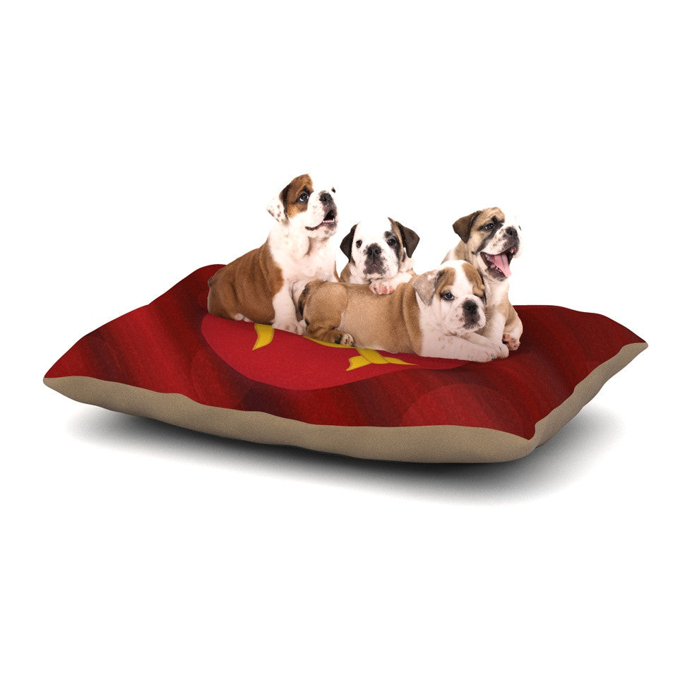 "NL Designs ""Mars"" Red Marsala Dog Bed - KESS InHouse  - 1"