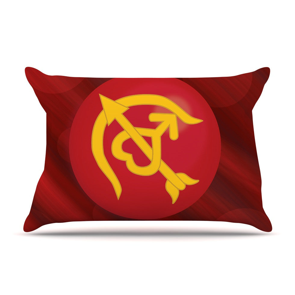 "NL Designs ""Mars"" Red Marsala Pillow Sham - KESS InHouse"