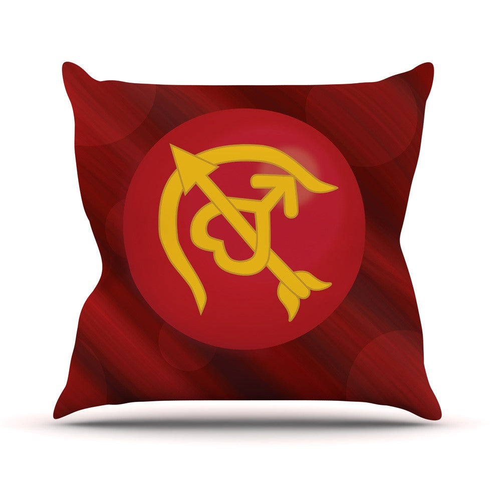 "NL Designs ""Mars"" Red Marsala Throw Pillow - KESS InHouse  - 1"
