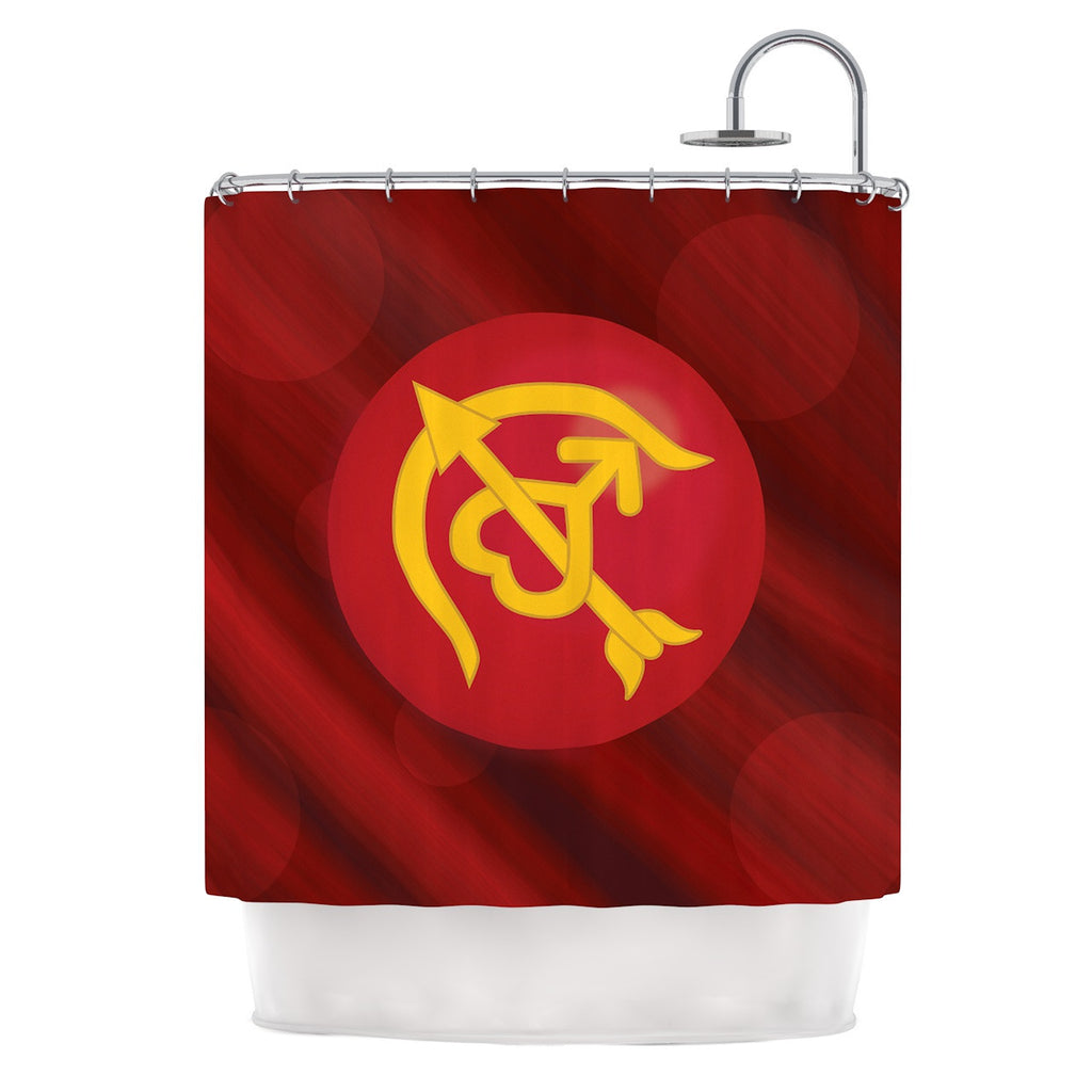 "NL Designs ""Mars"" Red Marsala Shower Curtain - KESS InHouse"
