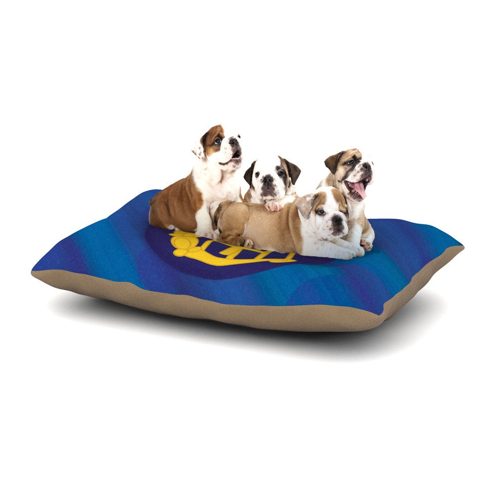 "NL Designs ""Mercury"" Blue Navy Dog Bed - KESS InHouse  - 1"