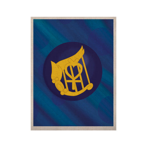 "NL Designs ""Mercury"" Blue Navy KESS Naturals Canvas (Frame not Included) - KESS InHouse  - 1"