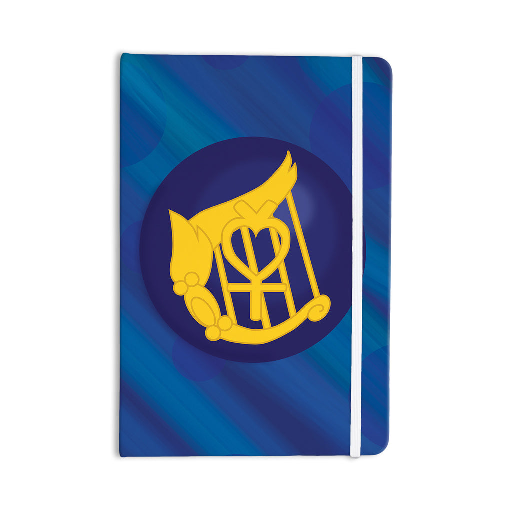 "NL Designs ""Mercury"" Blue Navy Everything Notebook - KESS InHouse  - 1"