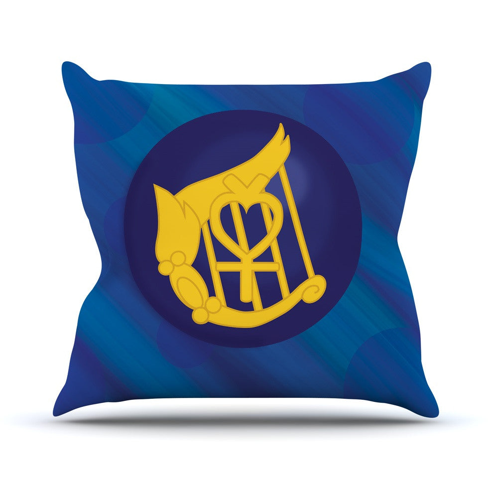 "NL Designs ""Mercury"" Blue Navy Outdoor Throw Pillow - KESS InHouse  - 1"