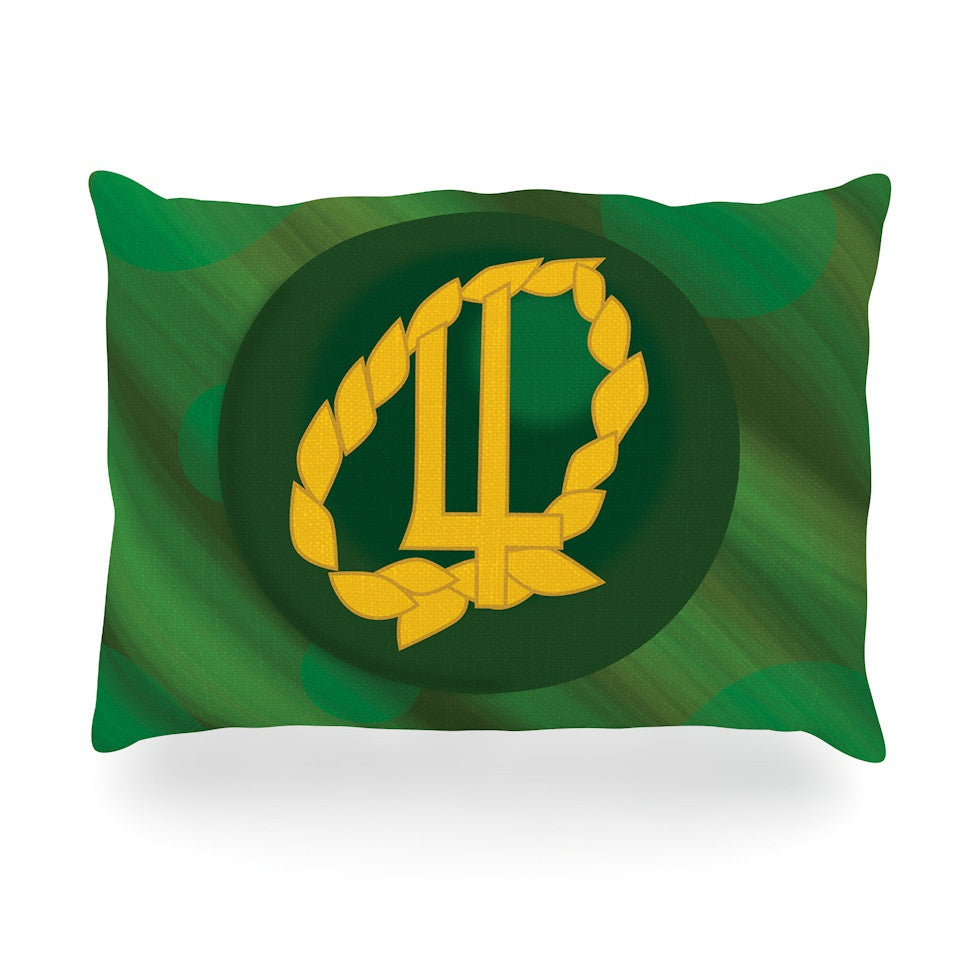 "NL Designs ""Jupiter"" Green Emerald Oblong Pillow - KESS InHouse"