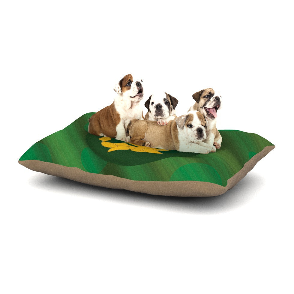 "NL Designs ""Jupiter"" Green Emerald Dog Bed - KESS InHouse  - 1"