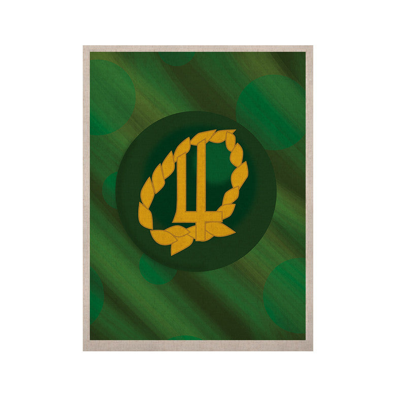"NL Designs ""Jupiter"" Green Emerald KESS Naturals Canvas (Frame not Included) - KESS InHouse  - 1"
