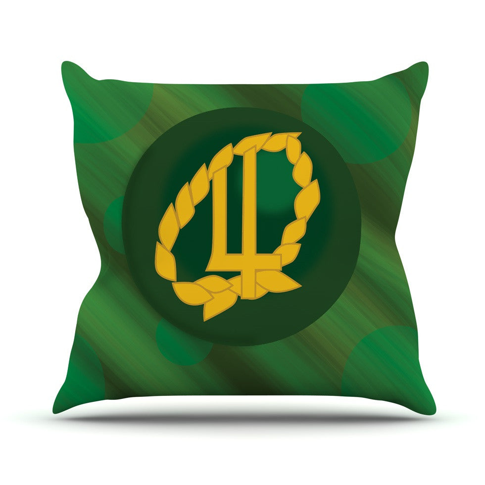 "NL Designs ""Jupiter"" Green Emerald Outdoor Throw Pillow - KESS InHouse  - 1"