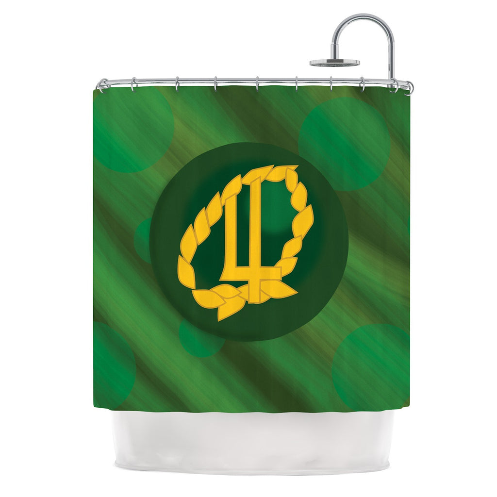 "NL Designs ""Jupiter"" Green Emerald Shower Curtain - KESS InHouse"