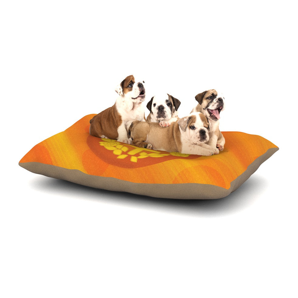 "NL Designs ""Venus"" Orange Yellow Dog Bed - KESS InHouse  - 1"
