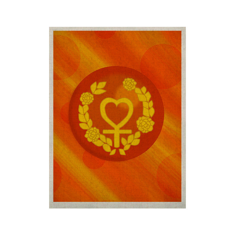 "NL Designs ""Venus"" Orange Yellow KESS Naturals Canvas (Frame not Included) - KESS InHouse  - 1"