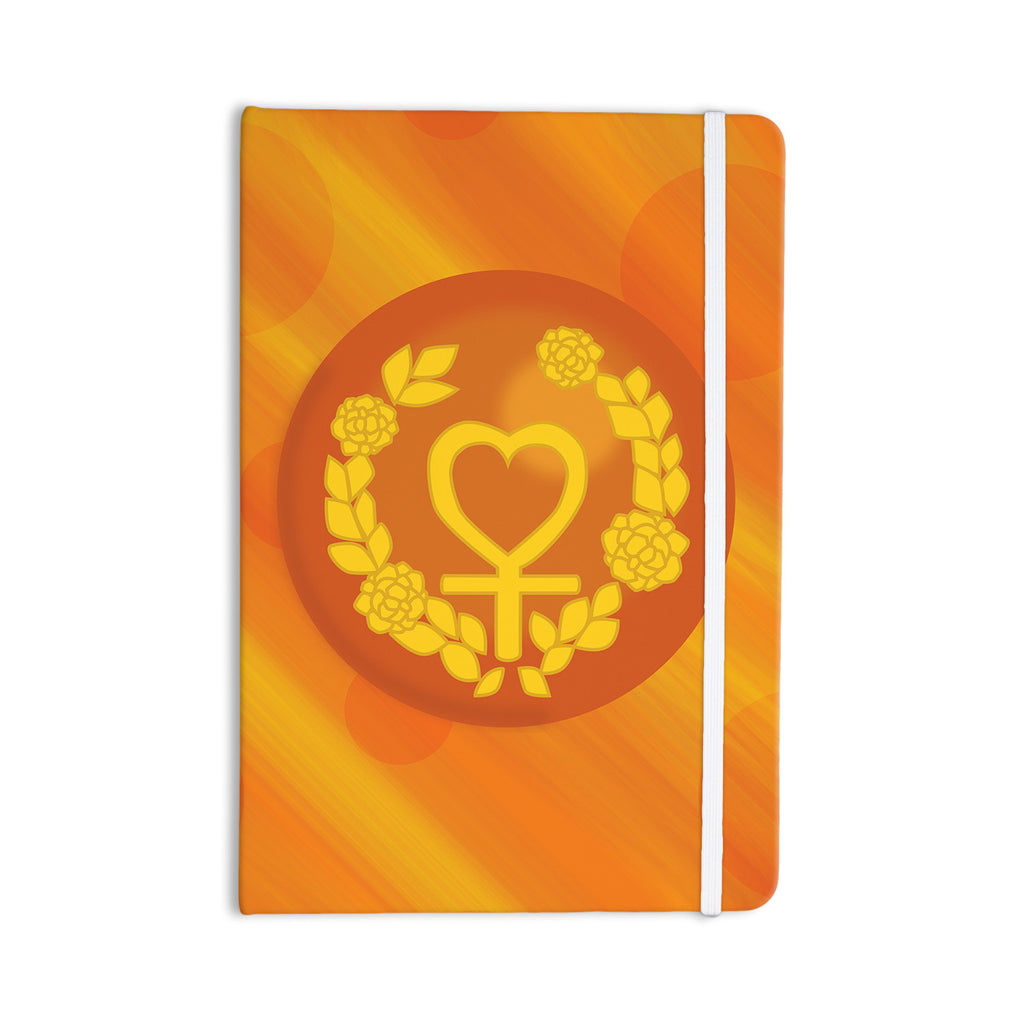 "NL Designs ""Venus"" Orange Yellow Everything Notebook - KESS InHouse  - 1"