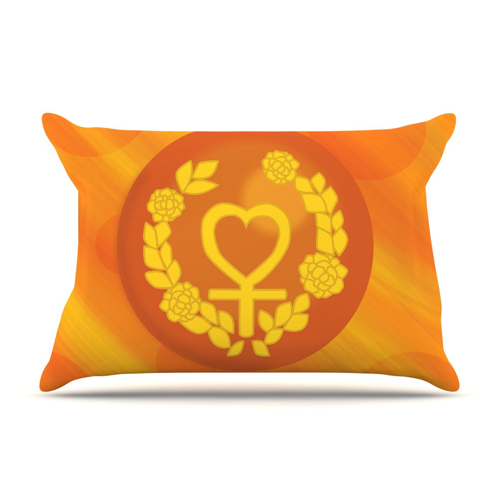 "NL Designs ""Venus"" Orange Yellow Pillow Sham - KESS InHouse"