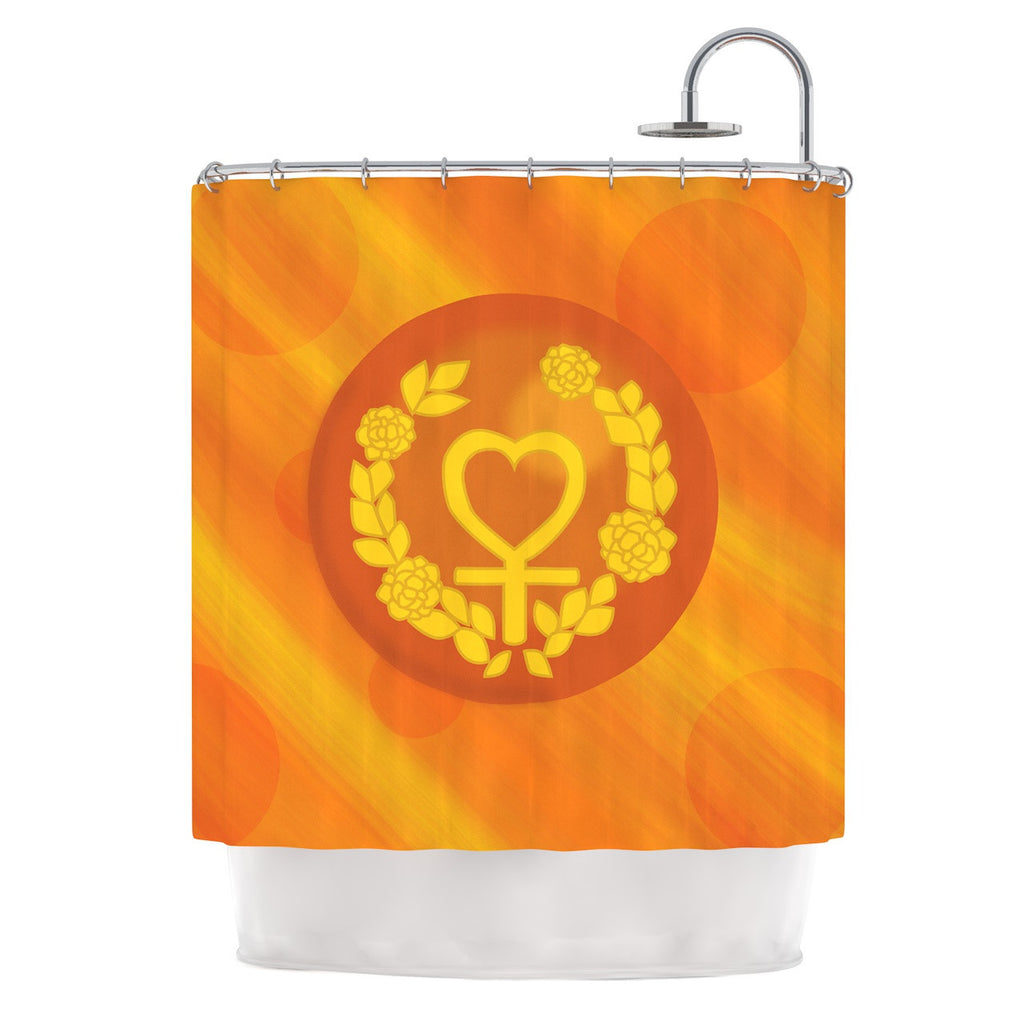 "NL Designs ""Venus"" Orange Yellow Shower Curtain - KESS InHouse"