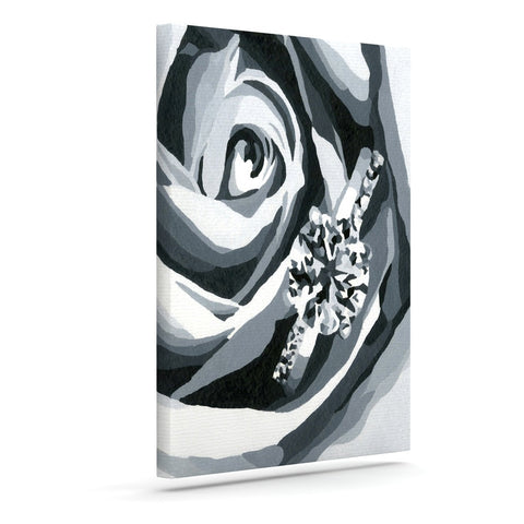 "NL Designs ""Happy Engagement"" Gray White Canvas Art - KESS InHouse  - 1"
