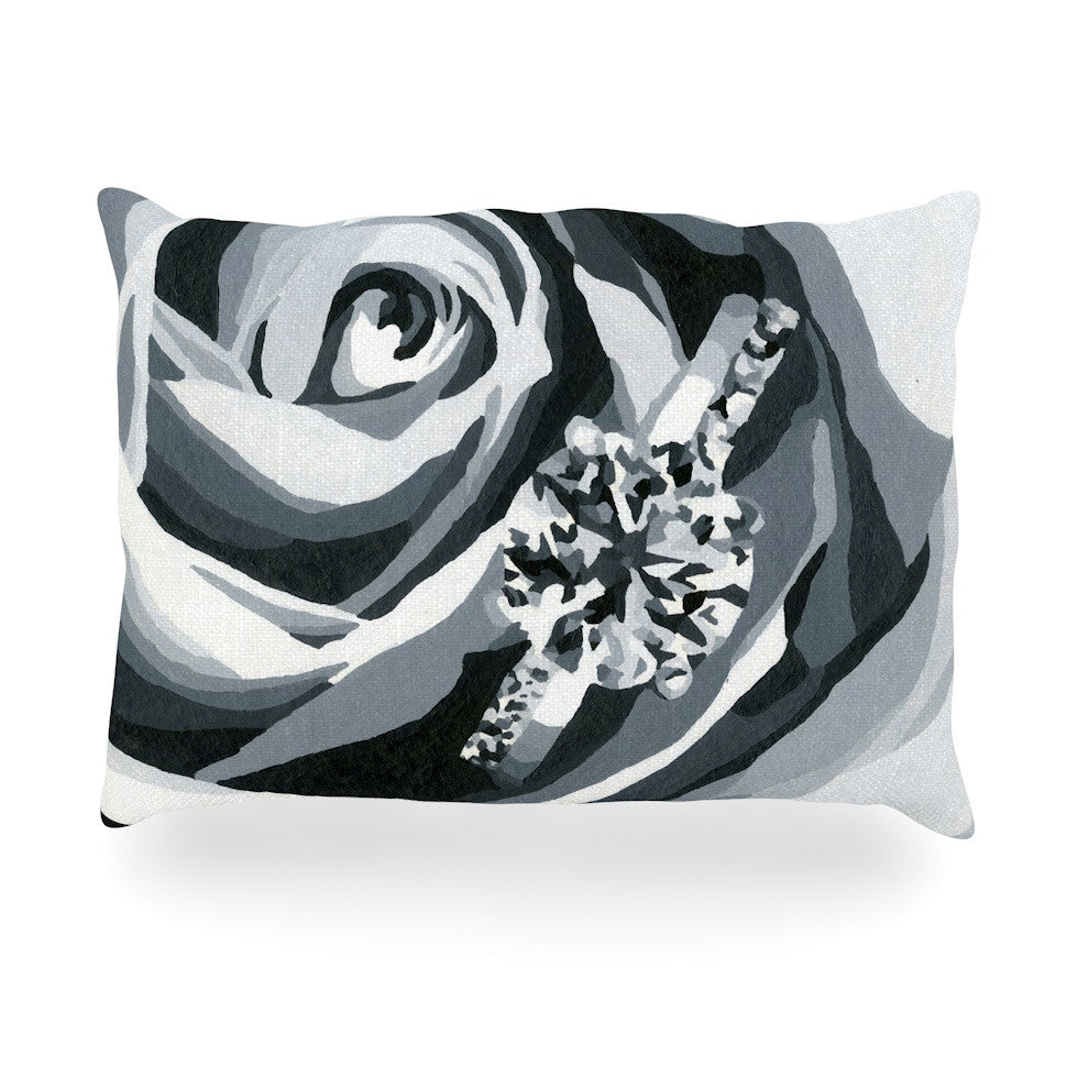 "NL Designs ""Happy Engagement"" Gray White Oblong Pillow - KESS InHouse"