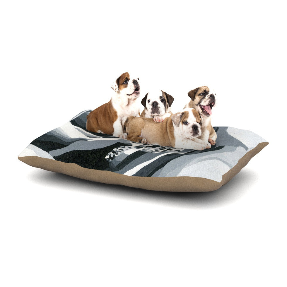 "NL Designs ""Happy Engagement"" Gray White Dog Bed - KESS InHouse  - 1"