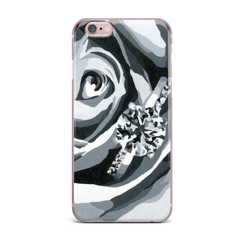 "NL Designs ""Happy Engagement"" Gray White iPhone Case - KESS InHouse"
