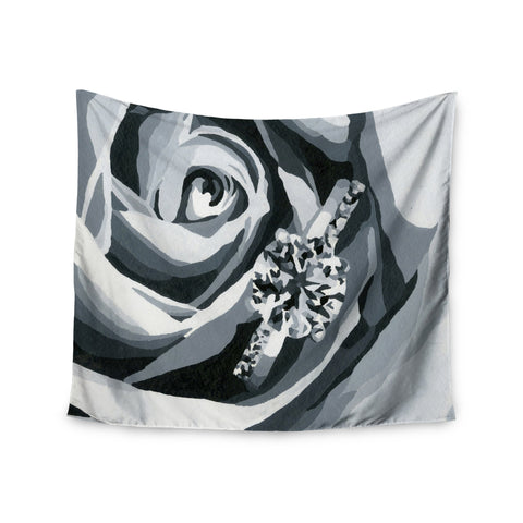 "NL Designs ""Happy Engagement"" Gray White Wall Tapestry - KESS InHouse  - 1"