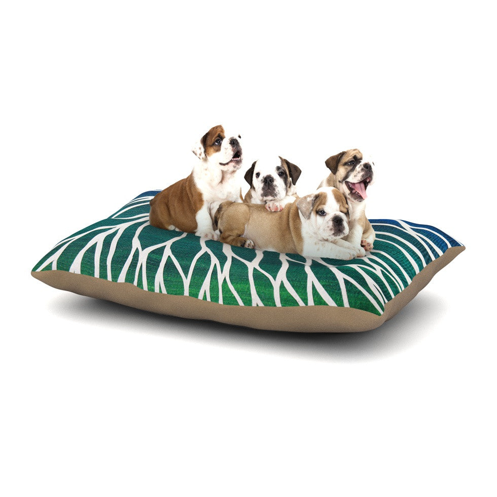 "NL Designs ""Ocean Flower"" Teal Green Dog Bed - KESS InHouse  - 1"