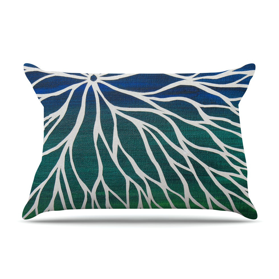 "NL Designs ""Ocean Flower"" Teal Green Pillow Sham - KESS InHouse"