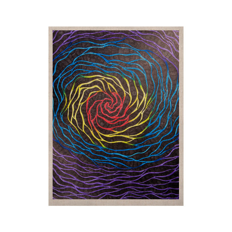 "NL Designs ""Rainbow Vortex"" Multicolor Illustration KESS Naturals Canvas (Frame not Included) - KESS InHouse  - 1"