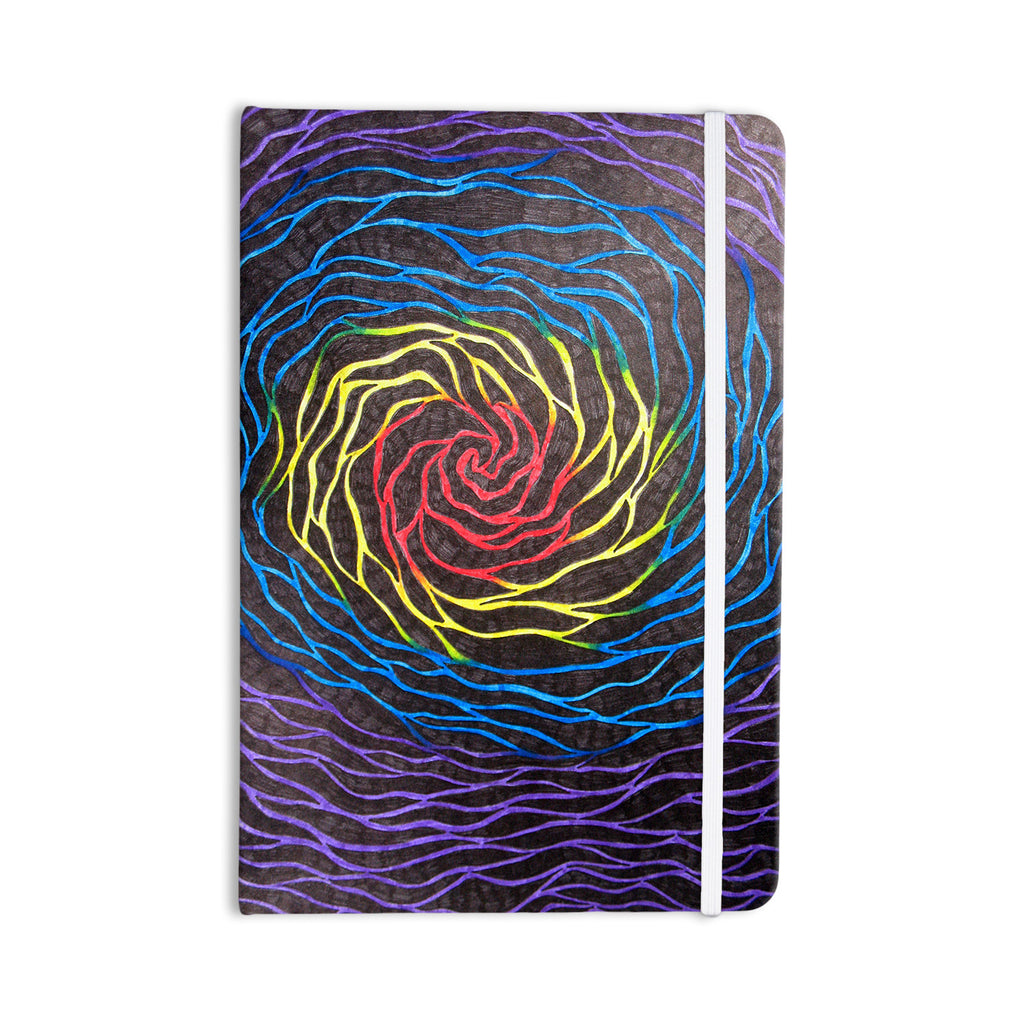 "NL Designs ""Rainbow Vortex"" Multicolor Illustration Everything Notebook - KESS InHouse  - 1"