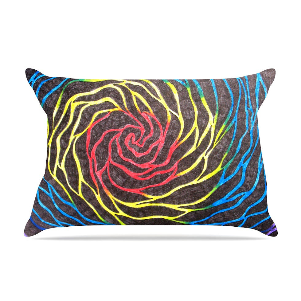 "NL Designs ""Rainbow Vortex"" Multicolor Illustration Pillow Sham - KESS InHouse"