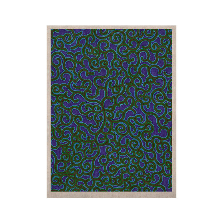 "NL Designs ""Swirling Vines"" Blue Green KESS Naturals Canvas (Frame not Included) - KESS InHouse  - 1"