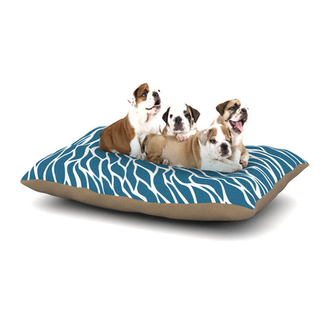 "NL Designs ""Swirls Teal"" Blue Teal Dog Bed - KESS InHouse  - 1"