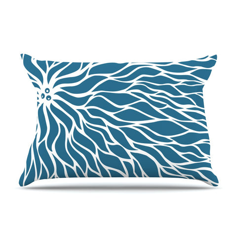 "NL Designs ""Swirls Teal"" Blue Teal Pillow Sham - KESS InHouse"
