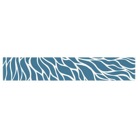 "NL Designs ""Swirls Teal"" Blue Teal Table Runner - KESS InHouse  - 1"