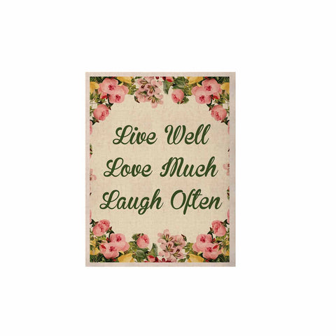 "NL Designs ""Live, Love, Laugh"" Floral Typography KESS Naturals Canvas (Frame not Included) - KESS InHouse  - 1"