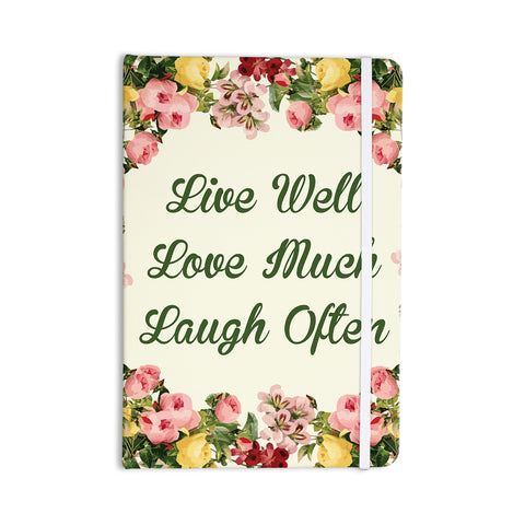 "NL Designs ""Live, Love, Laugh"" Floral Typography Everything Notebook - KESS InHouse  - 1"