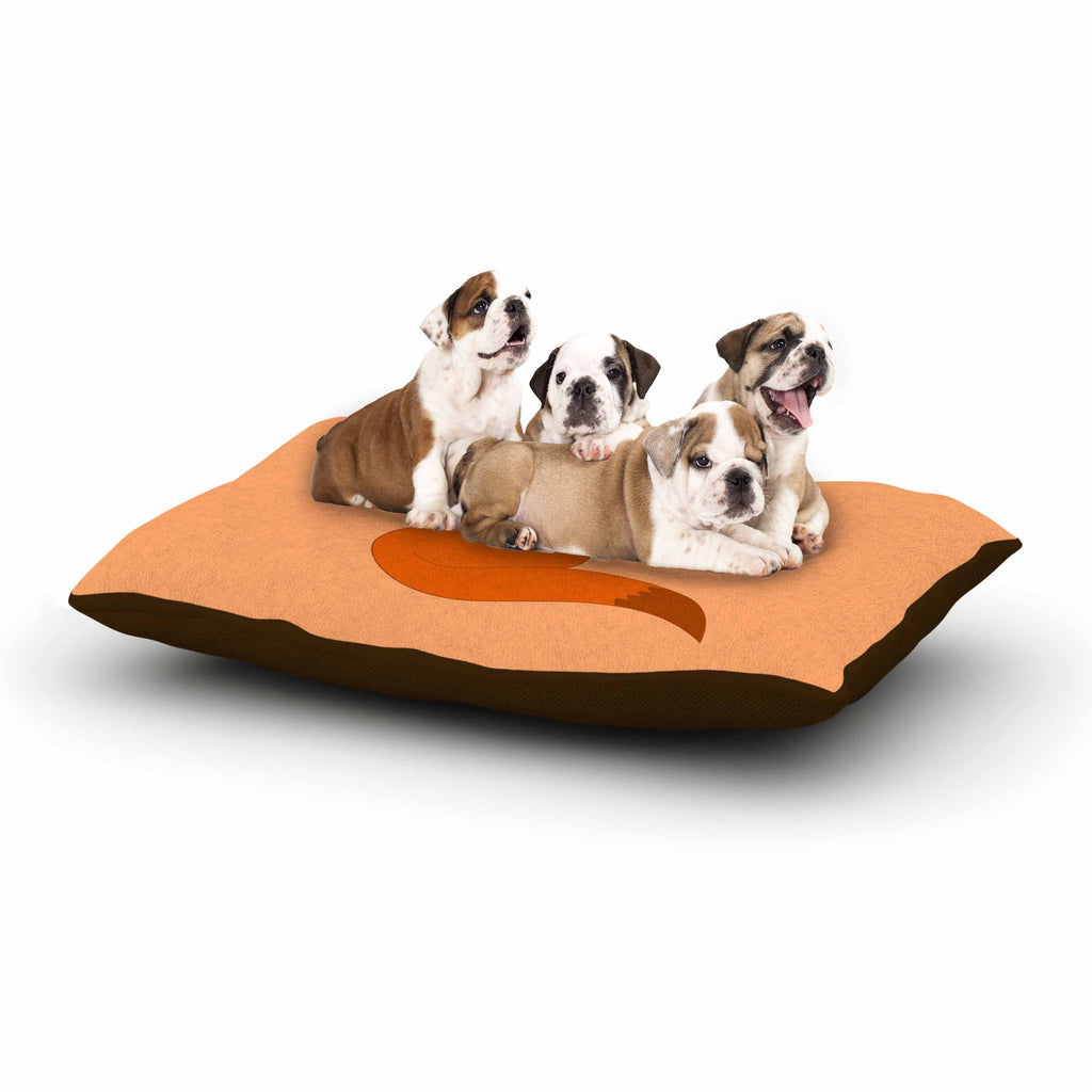 "NL Designs ""Fox"" Brown Orange Digital Dog Bed"