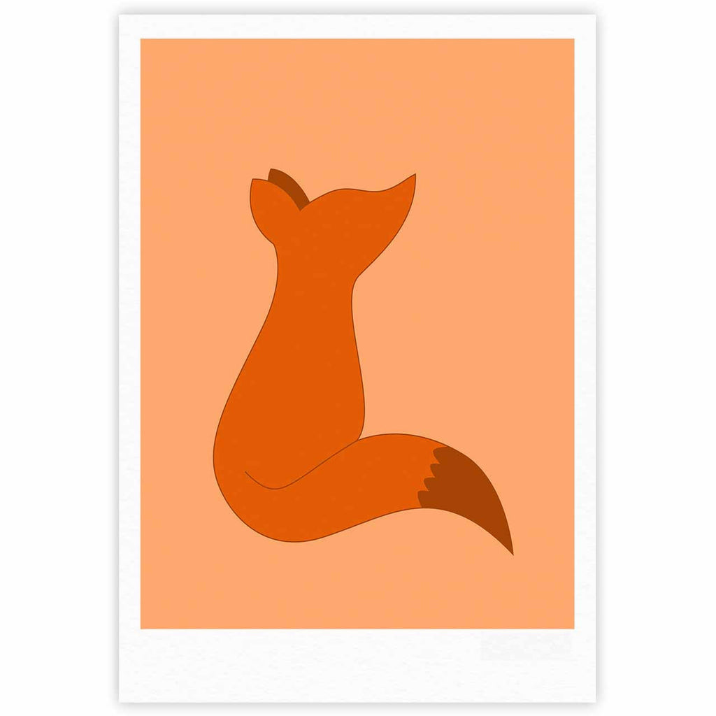 "NL Designs ""Fox"" Brown Orange Digital Fine Art Gallery Print"