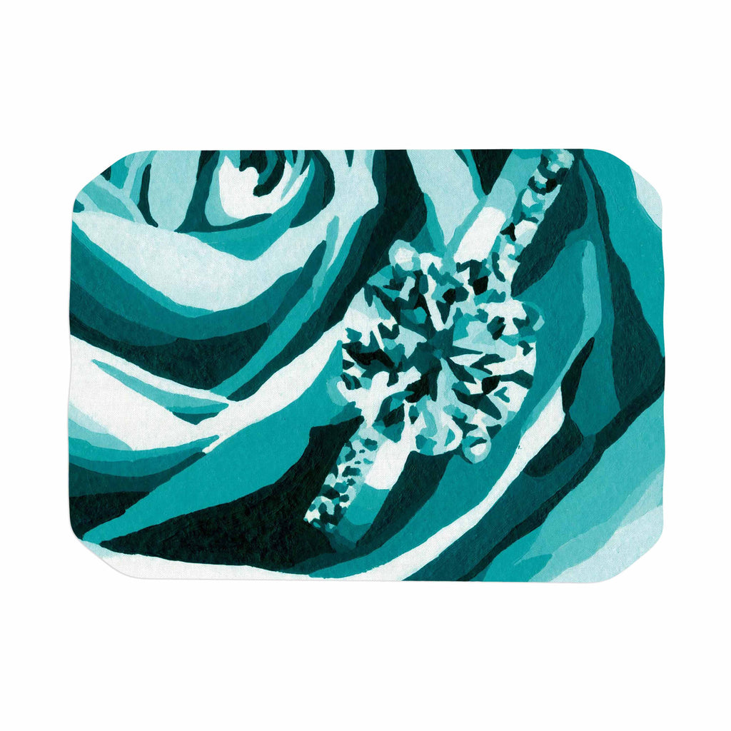 "Nl Designs ""Happy Engagement Tiffany"" Teal White Place Mat - KESS InHouse"