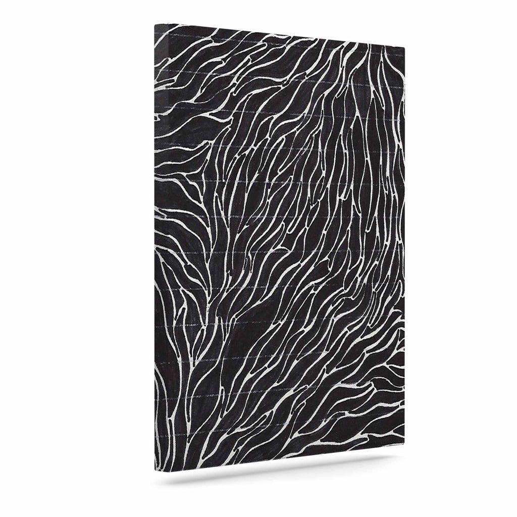 "Nl Designs ""Garden Illusion"" Black White Canvas Art - KESS InHouse  - 1"