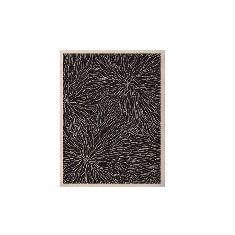 "Nl Designs ""Garden Illusion"" Black White KESS Naturals Canvas (Frame not Included) - KESS InHouse  - 1"