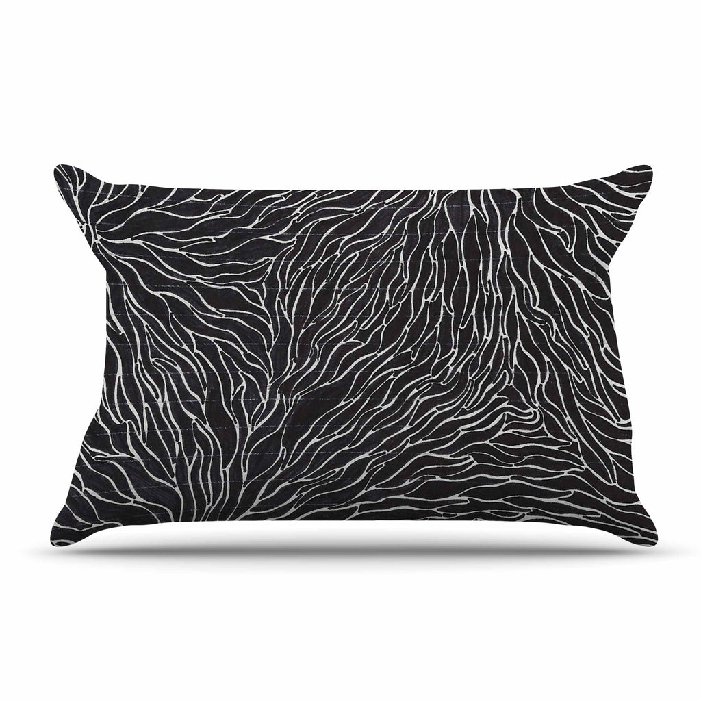 "Nl Designs ""Garden Illusion"" Black White Pillow Sham - KESS InHouse"