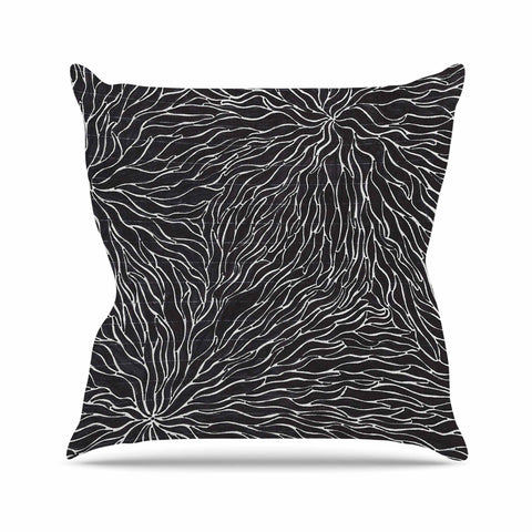 "Nl Designs ""Garden Illusion"" Black White Throw Pillow - KESS InHouse  - 1"